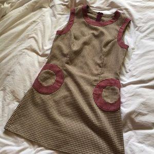 Vintage 60s tweed shift dress size 2